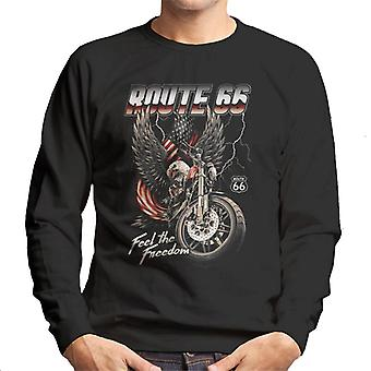 Route 66 Eagle Feel The Freedom Men's Sweatshirt