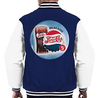 Pepsi Cola Retro Big Glass Men's Varsity Jacket