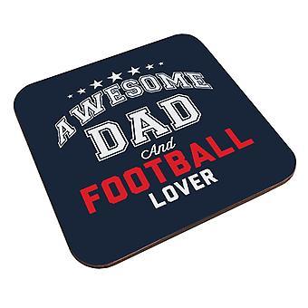 Ehrfürchtig Papa und Fußball-Liebhaber-Untersetzer