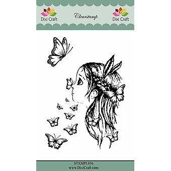 Dixi Craft Girl & Butterflies Clear Stamp