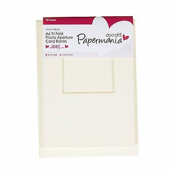Kort för kort i Papermania Bländare Kuvert Tri Fold Fönster A6 Cream (10pk) (PMA 150108)