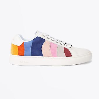 Paul Smith  - Leather Colour Block 'Lapin' Trainers - White