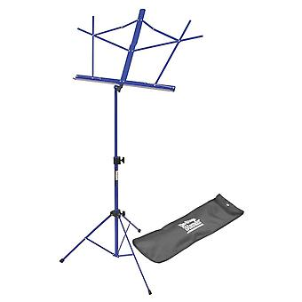 SM7122DBB, Compact Sheet Music Stand (Bleu foncé, w/ Sac)