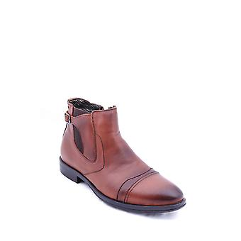Brown genuine leather men's boots | wessi