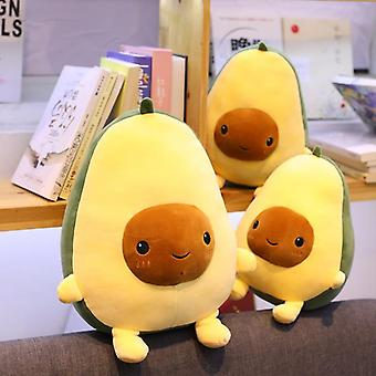 Cute Avocado Stuffed Plush Toy Soft Baby Doll Cartoon Fruit Pillow Sofa Cushion