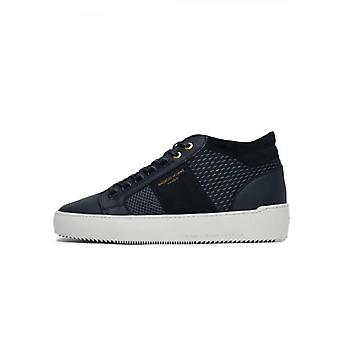 Android Homme Navy & Grey Propulsion Mid Sneaker