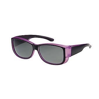 Sunglasses Unisex black/purple with green lens VZ0035M