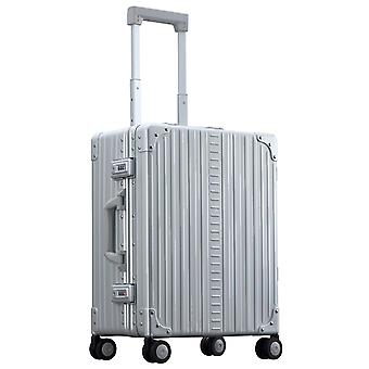 """ALEON Domestic Hand Luggage Trolley 21"""" 4 Ruedas, 40 cm, 36.2 L, Plata"""