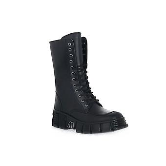 New rock wall itali black tower boots / boots
