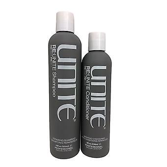 Unite Re Unite korjaus Shampoo 10 OZ & korjaus Hoitoaine 8 OZ Set