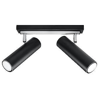 Sollux DIREZIONE - 2 Light Spotlight Bar Zwart, GU10