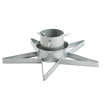 Star Shaped Christmas Tree Stand for Trees up to 2.5m - Silver