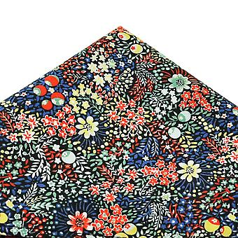 Solmiot Planet Van Buck kukat & marjat Pocket Square tehty Liberty Kangas