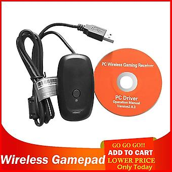 Alloet Wireless Gamepad Pc Adapter Controller Gaming Usb Receiver Wireless Controllers For Microsoft Xbox 360 Console With Cd (as Show)