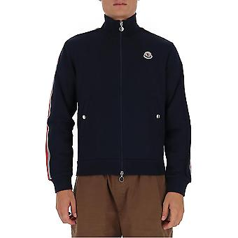 Moncler 8g753v8162778 Men's Blue Cotton Sweatshirt