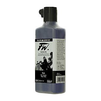 Daler Rowney FW Acrylic Ink 180ml in 028 Black