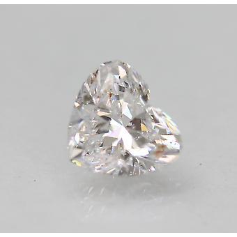 Certifié 1.00 Carat D Color SI1 Heart Natural Loose Diamond For Ring 6.77x6.01m