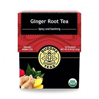 Buddha Teas Organic Ginger Root Tea, 18 Bags