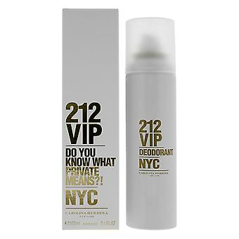 Carolina Herrera 212 VIP Deodorant Spray 150ml Women's NEW.