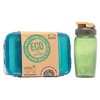 Lock N Lock Eco Lunch Set and Bottle 2 Piece HPL817HBTRCL