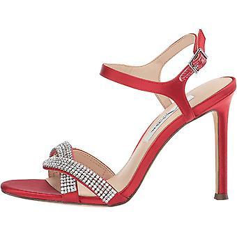Nina Womens Davia Satin Open Toe Ankle Strap Classic Pumps