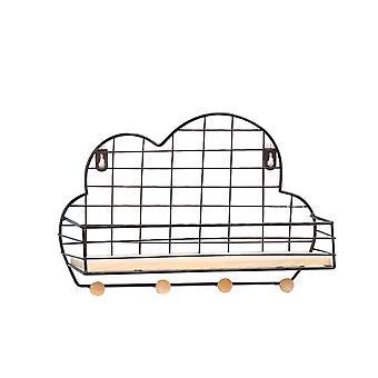 YANGFAN Simple Wrought Iron Grid Cloud-Shaped Wall Storage Racks