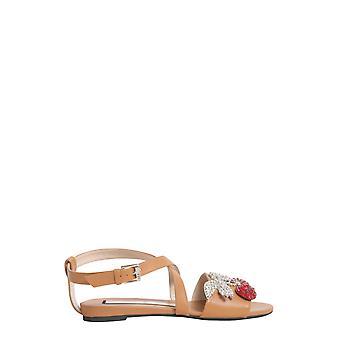 N°21 8162nappabeige Women's Brown Leather Sandals