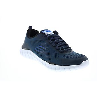 Skechers Overhaul Darosa Mens Blue Canvas Athletic Cross Training Shoes