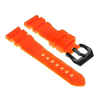 Strapsco rubber-watch-strap-with-matte-black-pre-v-buckle