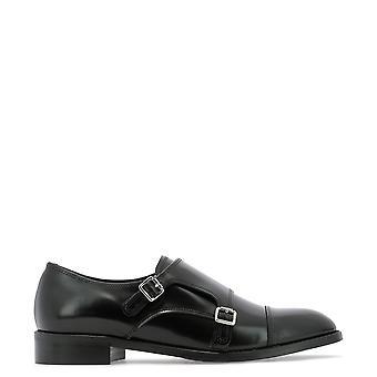 Guglielmo Rotta 3706iindionero Women's Black Leather Monk Strap Shoes