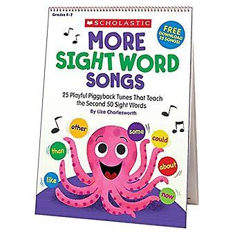 Meer Sight Word Songs Flip Chart: 25 speelse piggyback songs die de tweede 50 Sight Woorden leren