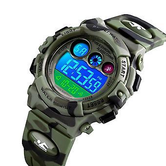 SKMEI 1547 Energetic Dial Design LED+EL Lights 5ATM Sport Kids Watch Digital