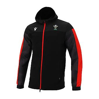 2020-2021 Wales Full Zip Hooded Sweatshirt (Black)