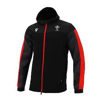 2020-2021 Wales Sudadera con capucha con cremallera completa (negro)