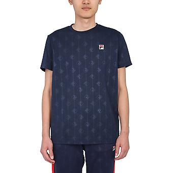 Fila 687884170 Herren's Blaues Polyester T-shirt