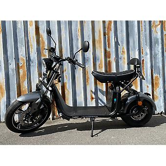 """Fatboy City Coco Smart E Electric Scooter Harley - 17 """"- 1500W - 20Ah - A Class - Gray"""