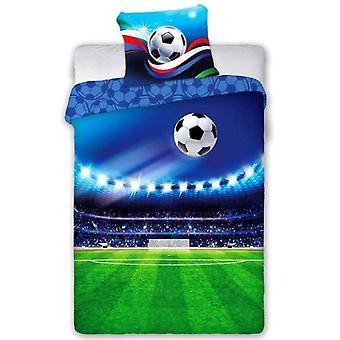Football Stadium Single Duvet Cover Set - European Size