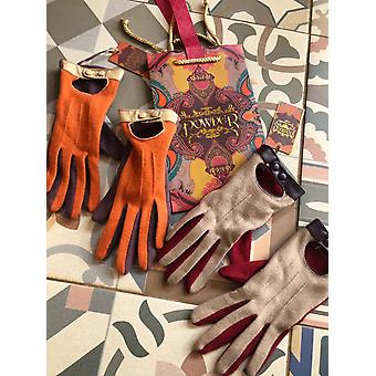 Powder Design Emilia Wool Mix Driving Style Gloves Two Tone