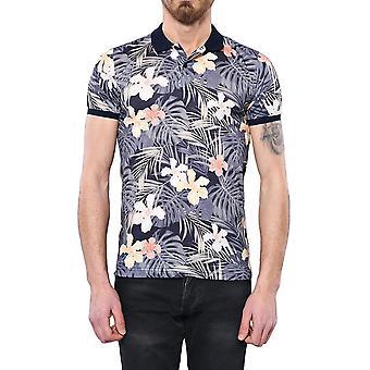 Blommigt mönstrad män's polo t-shirt | wessi