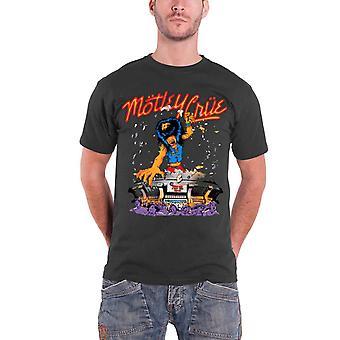 Motley Crue T Shirt Allister King Kong band logo Official Mens New Grey