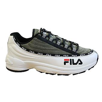 Fila DSTR97 S Mens Trainers White Green Suede Leather Lace Up Shoes 1010712 90S