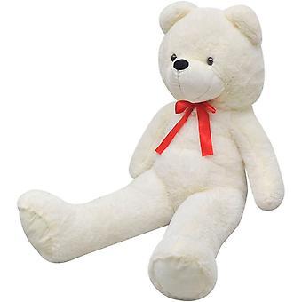 vidaXL لينة XXL أفخم تيدي الدب الأبيض 160 سم