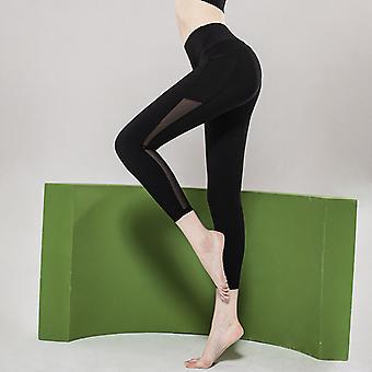 Women's mesh stitching yoga pants Q11
