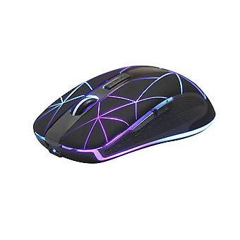 Rii rm200 wireless mouse rechargeable,colorful led backlit mouse game computer mice for pc tablet la