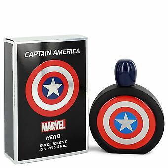 Captain America Hero by Marvel Eau de Toilette Spray 3,4 oz/100 ml (miehet)