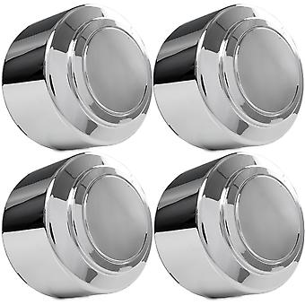 4x Chrome Center Caps Closed Wheel Lug Nut Hub Cap Covers Compatible with 2000-2003 Ford E-450 Van