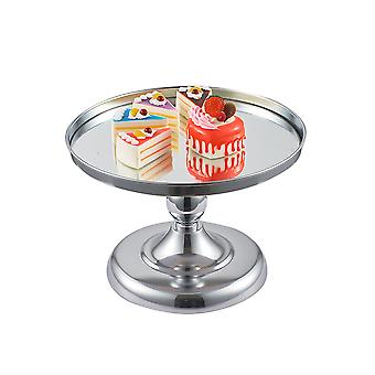 Cake Stand, Metal Round Cupcake Stands with Mirror Dessert Cake Tray for Wedding Party
