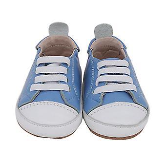 SKEANIE Pre-walker Leather Hamilton Sneakers in Dusty Blue