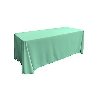 La Leinen Polyester Poplin rechteckige Tischdecke 90 von 132-Zoll, Mint