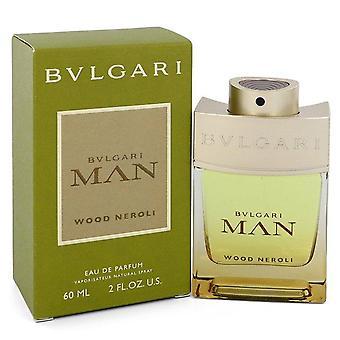 Bvlgari Man Madera Neroli Eau De Parfum Spray por Bvlgari 2 oz Eau De Parfum Spray